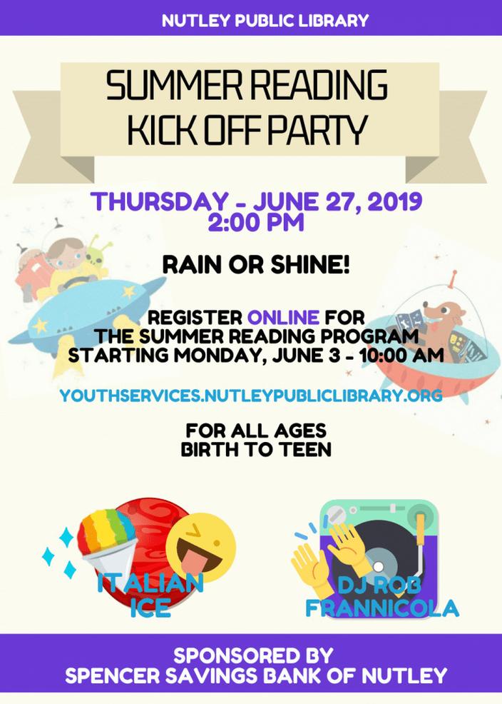 2019 Summer Reading Program at Nutley Public Library - TAPinto