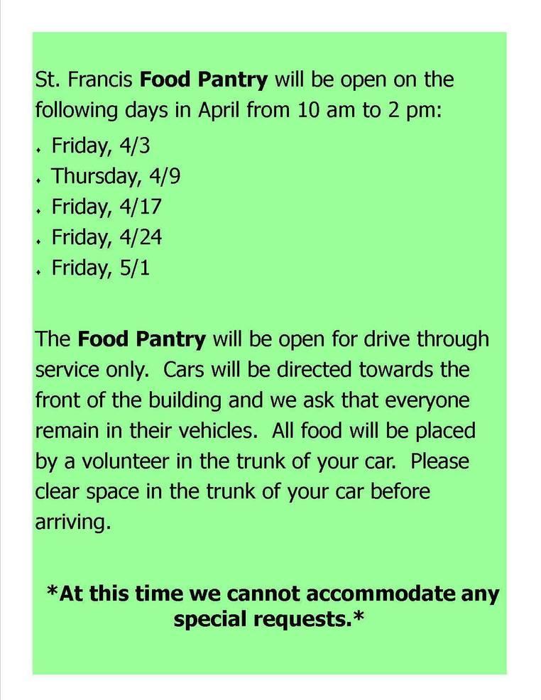 St. Francis Food Pantry information.jpg