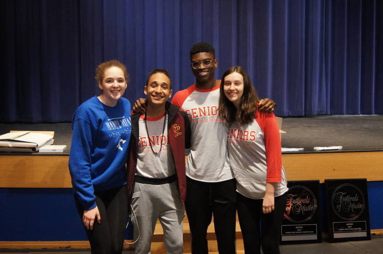 Scotch Plains-Fanwood HS student award winners at the 2019 Festival of Music in Boston