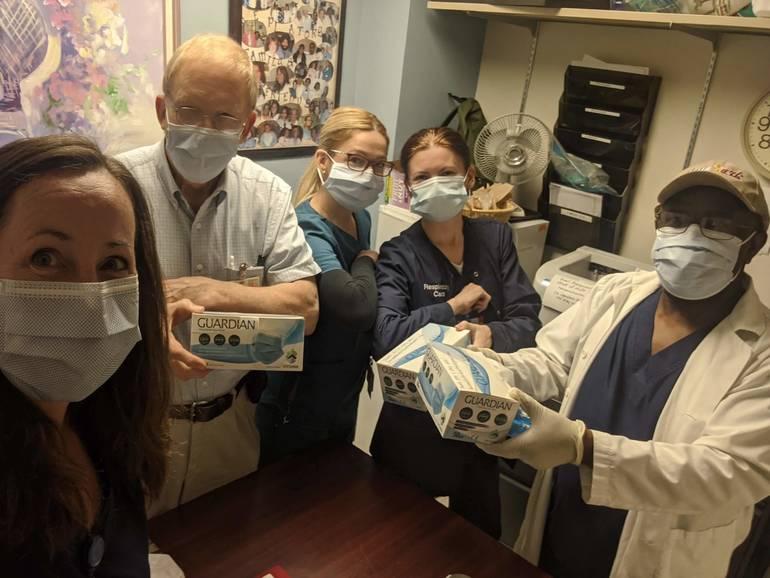 St. Joseph's Wayne staff with surgical masks.jpg