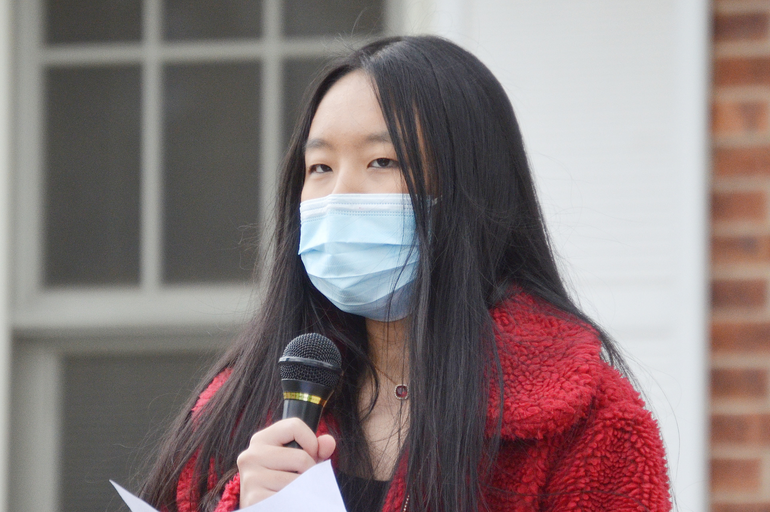 The Stop Asian Hate Rally in Scotch Plains featured many young speakers.