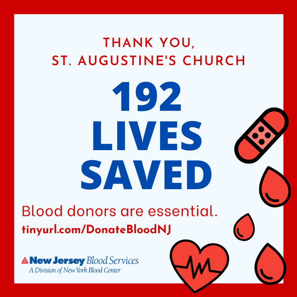 St. Augustine's Church Saves 192 Lives with Blood Drive