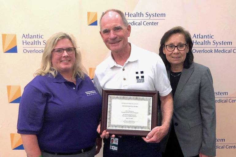 Summit First Aid Squad's Stephen Mortenson Receives Overlook EMS Excellence Award
