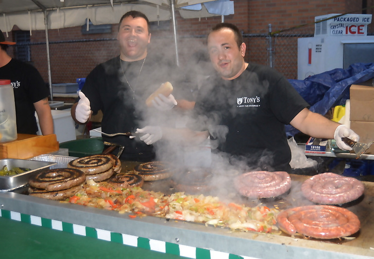 Sausage & Peppers stand at the St. Bart's Italian Festival in Scotch Plains