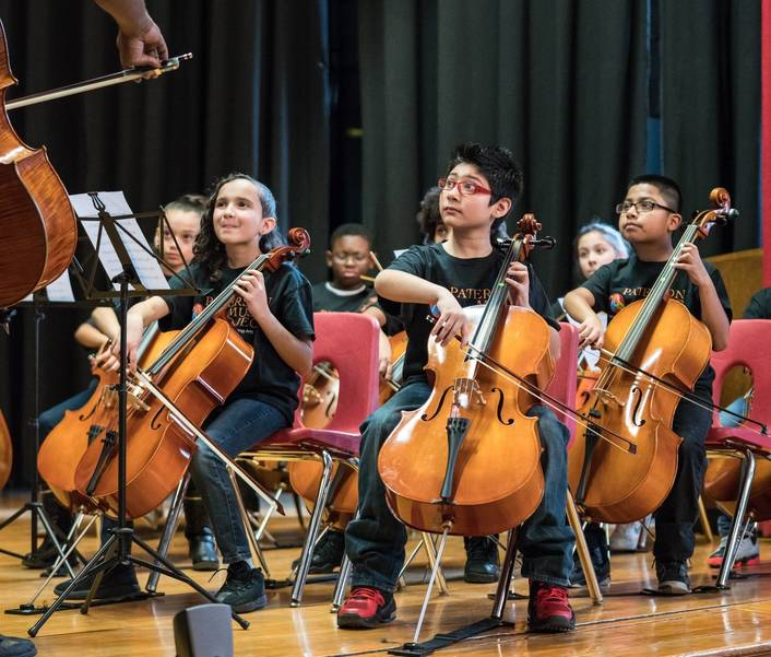 Students from the Paterson Music Project; photo courtesy of the Wharton Institute. .jpg