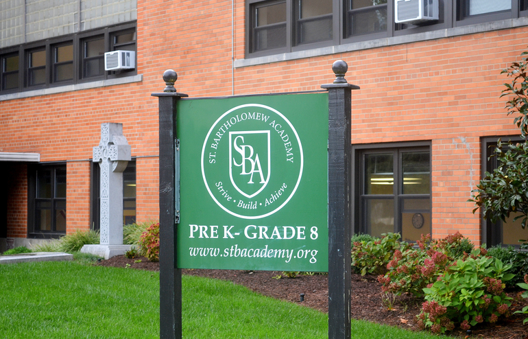 St. Bart's Academy sign in Scotch Plains