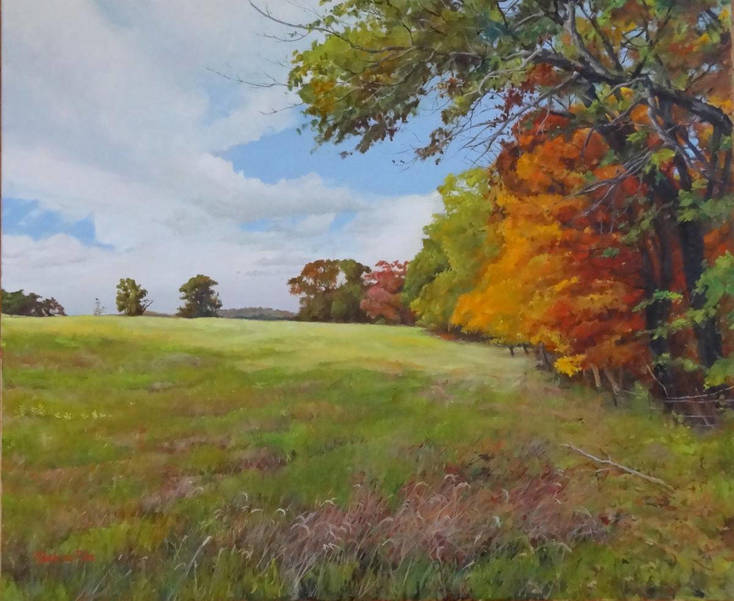 Autumnal Field, Natirar, by Mark de Mos