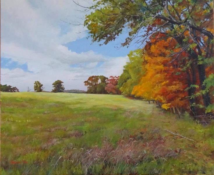 Autumnal Field, Natirar, by Mark de Mos