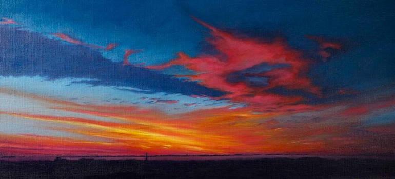 Sunrise over Sconset and Moors by Anthony Panzera
