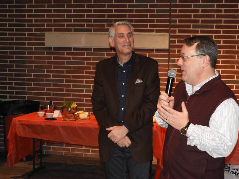 Steve Catania, Chairman of the Red Bank RiverCenter with former Executive Director, James Scavone.jpg
