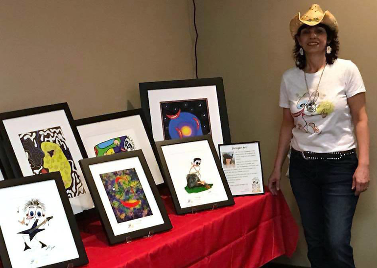 Fanwood resident Lisa Cyckowski's is an artist/entrepreneur whose Strings with Benefits helps fund mental health programs.
