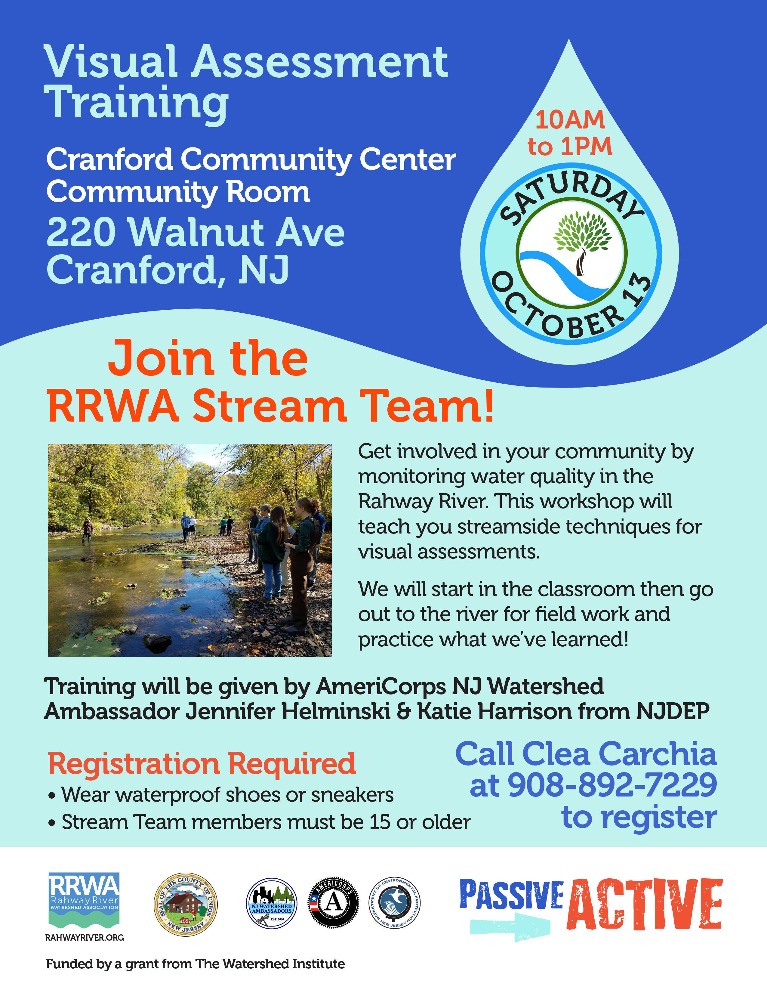 Water Quality Monitoring on the Rahway River