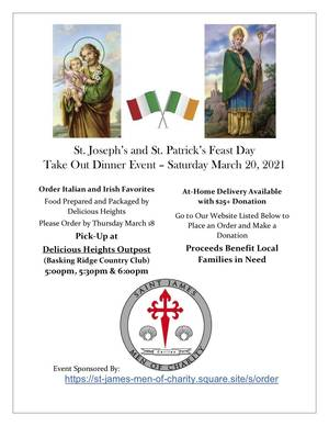 St. James Men of Charity Hosts St. Patrick's / St. Joseph's Feast Day