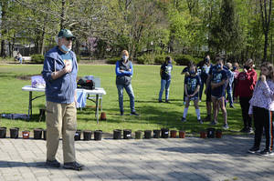 Steve Falco hosts Arbor Day event in Fanwood.