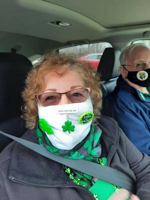 Saint Patrick's Day Celebrated at the Senior Center with Drive-By Event