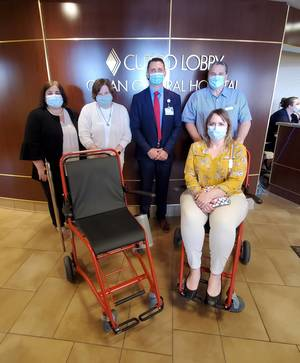 Olean General Hospital Receives $10,000 for Wheelchair Purchases