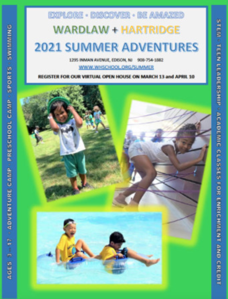 The Wardlaw+Hartridge School in Edison will offer a robust array of summer programs in 2021.