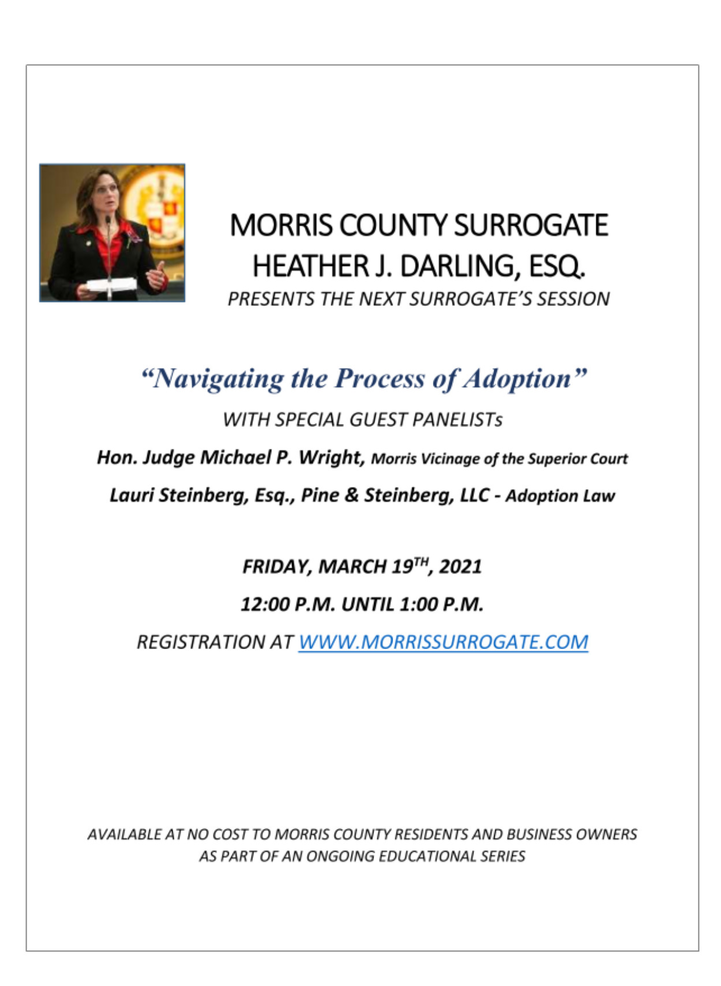 Seminar on Adopting to be Held by Surrogate's Office