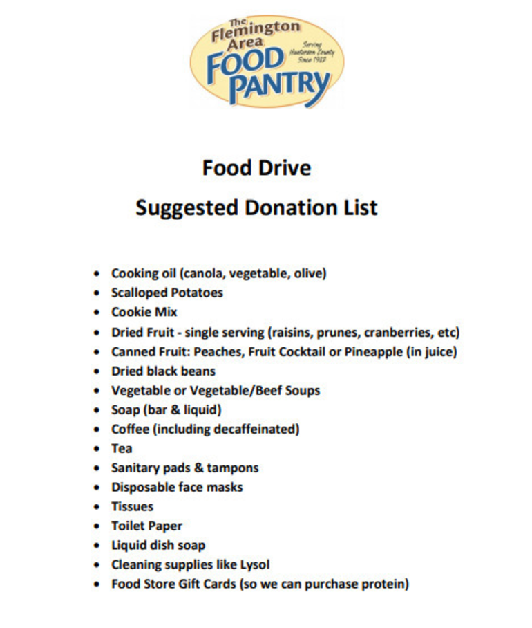 Local 8th Grader Collects for Flemington Area Food Pantry