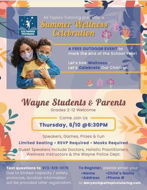Summer Mental Health Wellness Event For Children Coming June 10