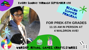 Sunday Summer Programs for Pre-K to 5th Grade at Beacon UU in Summit