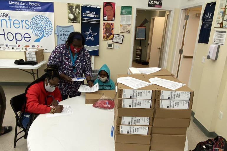 South Ward Students Receive Donated Laptops to Help Families With Remote Learning During Pandemic