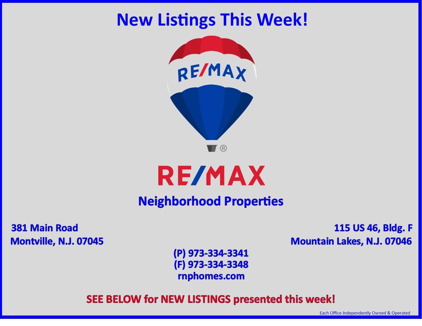 RE/MAX Neighborhood Properties New Listings