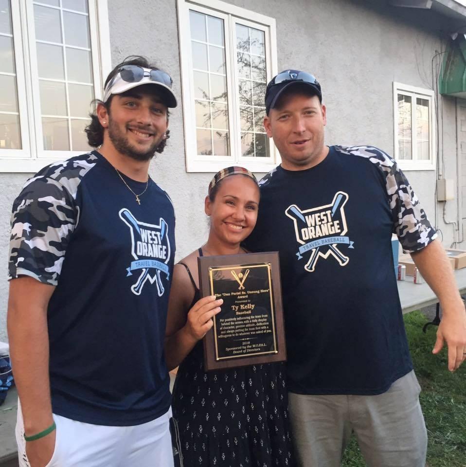 Dan Parisi, Sr. Unsung Hero Award Presentation, Summer 2018 PAL Travel Baseball