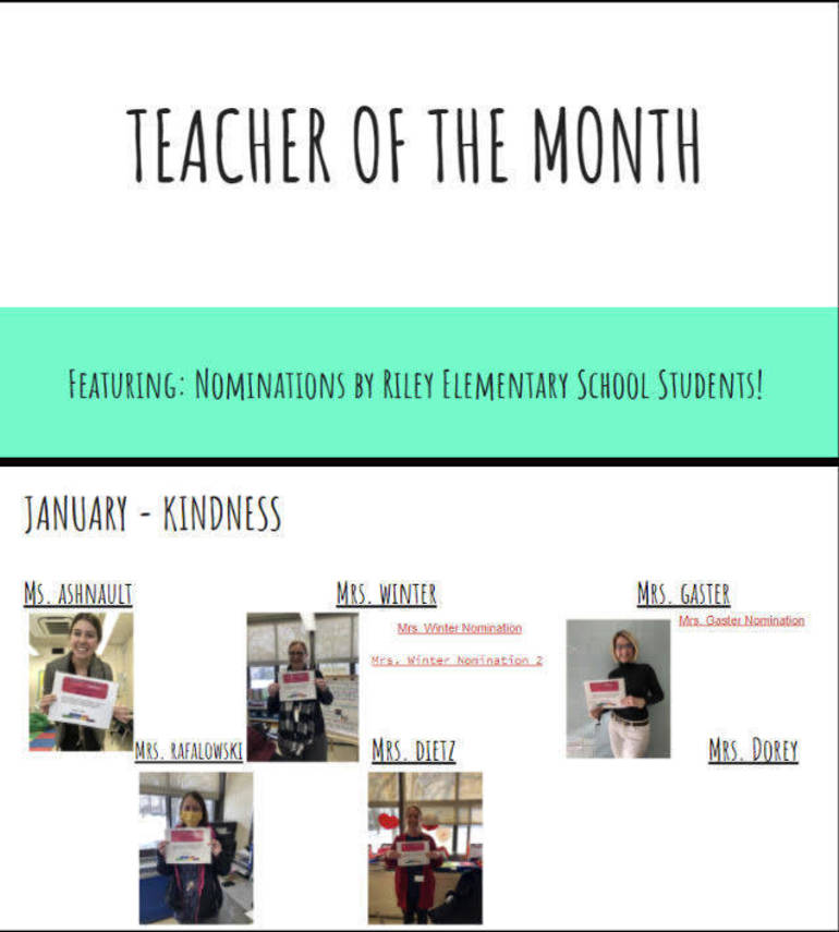 Riley School Launches Teacher of the Month with Virtual Display