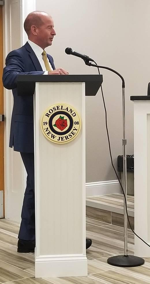 Essex Fells Mayor Edward Davis Updates Roseland on Contaminant Water Issues
