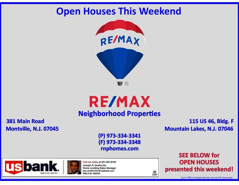 RE/MAX Neighborhood Properties Open Houses This Weekend- January 10, 2021