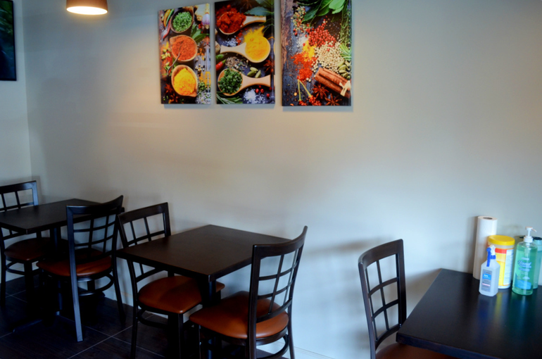 Seating at Tasty Thai in Fanwood.