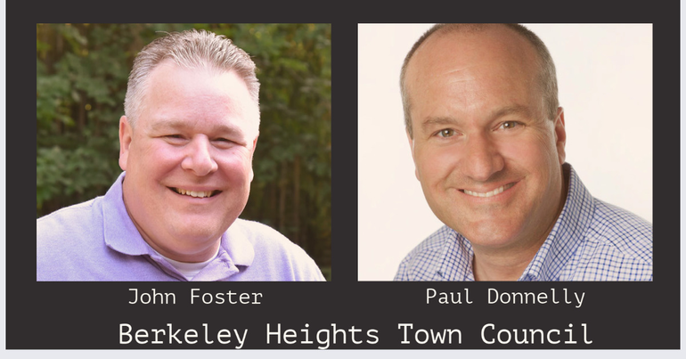 John Foster and Paul Donnelly Announce Candidacy for Berkeley Heights Township Council