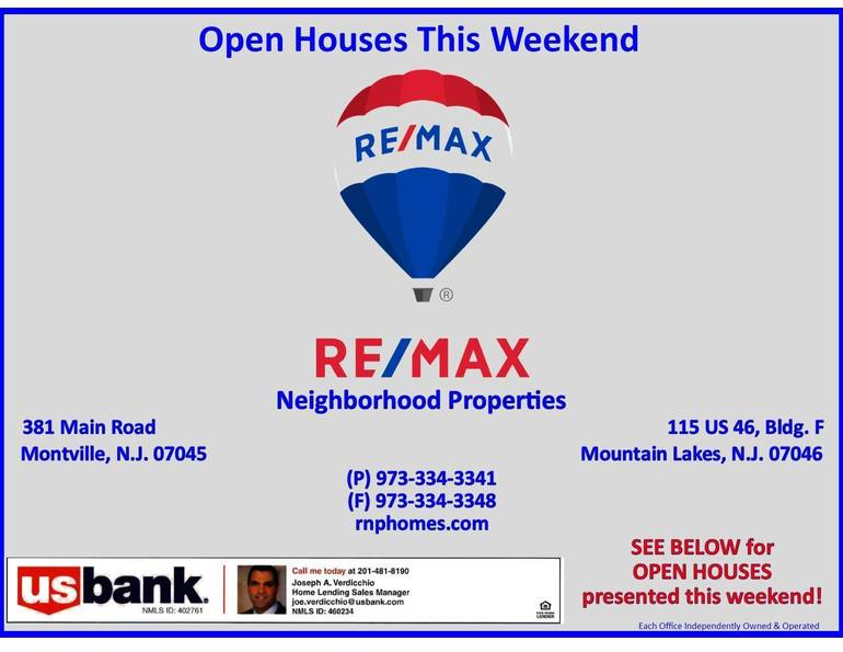 RE/MAX Neighborhood Properties Open Houses This Weekend- December 6, 2020