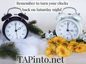 TAPinto Reminds Everyone to Turn Your Clocks Back 1- Hour this Weekend.jpg