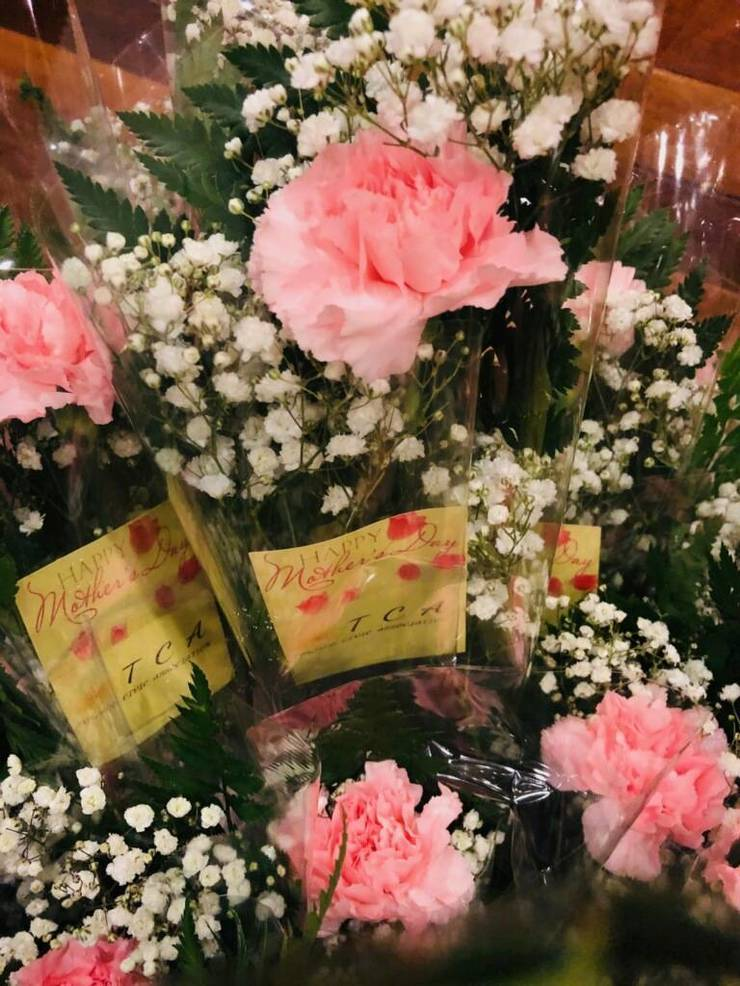 TCA Mother's Day flowers and message card 2020