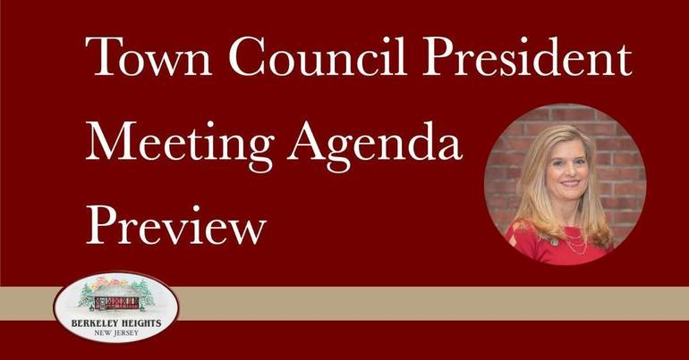 Berkeley Heights Town Council Meeting Agenda Preview - April 6, 2021. Find out what is being discussed by the Town Council at its next meeting.