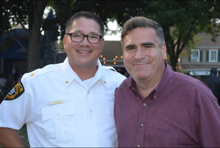 Ted Conley and Councilman Ted Spera at Scotch Plains National Night Out.png