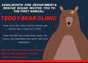 Kenilworth Fire Department & Rescue Squad Host First Teddy Bear Clinic