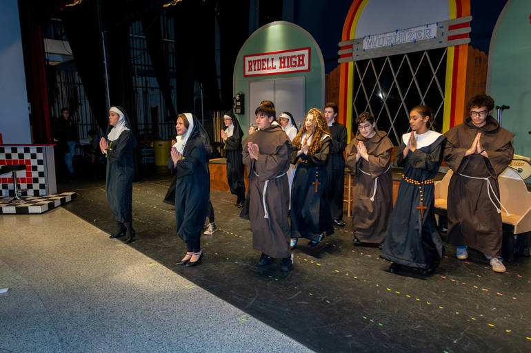 The cast of Nunsense performing -We've Got to Clean out the Freezer-.JPG
