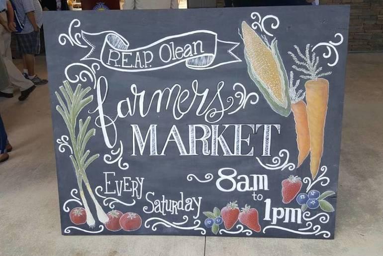 Olean Farmers Market Sign