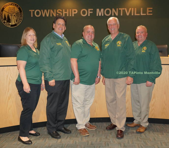 The Montville Township Committee in April 2019 ©2020 TAPinto Montville.JPG