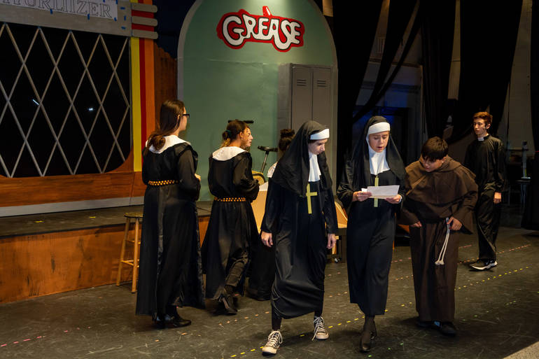 The cast of Nunsense includes many younger students.JPG
