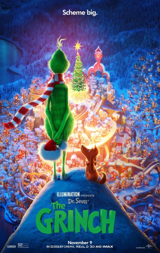 "Free Drive-Up Movie, ""The Grinch,"" in Scotch Plains on December 11"