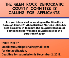 Carousel image 80c394c60fec2ad8b18e the glen rock democratic county committee is looking for applicants
