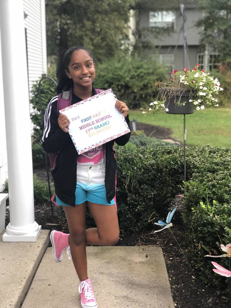 Tia, first day at middle school