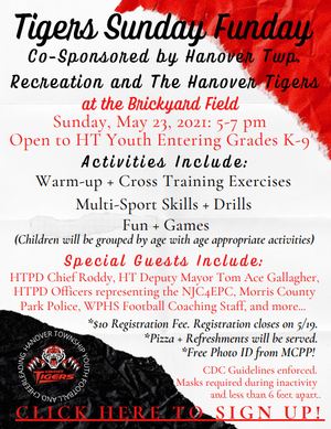 Hanover Township Youth Football, Cheerlead and Rec Department Hosting Sunday Funday