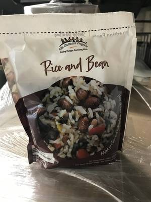 A package of rice and beans.