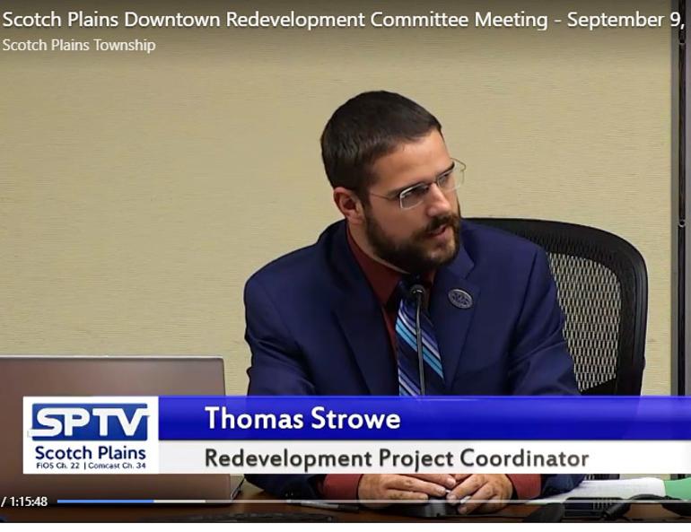 Tom Strowe, downtown redevelopment coordinator for Scotch Plains