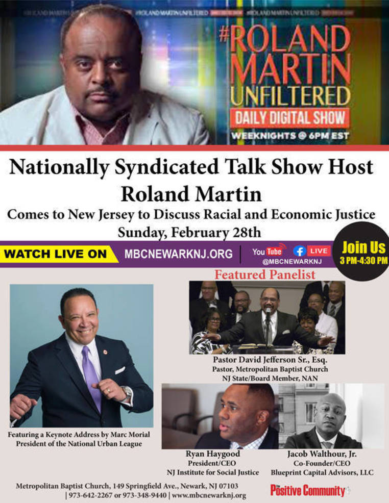 The State of Racial Justice in NJ Featuring Local Leaders and Roland Martin